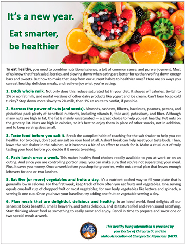 It's a new year, eat smarter be healthier
