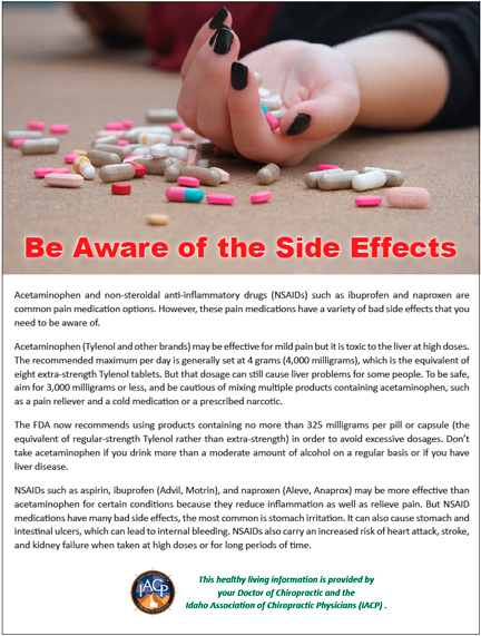 Be Aware of the Side Effects